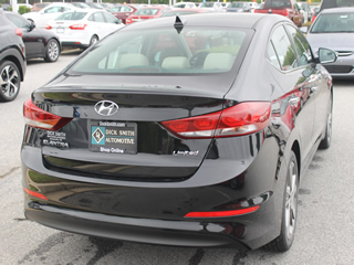 2017 HYUNDAI ELANTRA LIMITED Rear Veiw in Greenville, Greer, Spartanburg, Anderson, Easley, Simpsonville, Greenwood, Newberry SC and Asheville NC. Selling New Hyundai Cars and Used Cars and Trucks